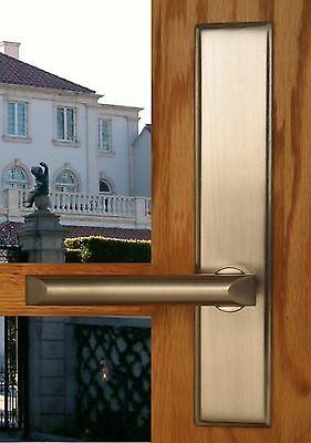 FPL Pickfair Entry Door Lever Set and Back Plates with Deadbolt