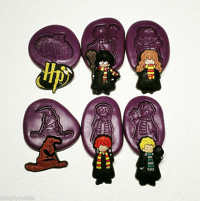 Harry Potter Chibi Silicone Molds (30mm) Fondant Chocolate Clay