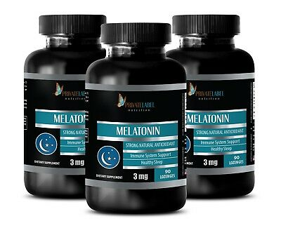 Melatonin Sublingual - MELATONIN 3MG - Anti-Aging Therapy 6 Bottles
