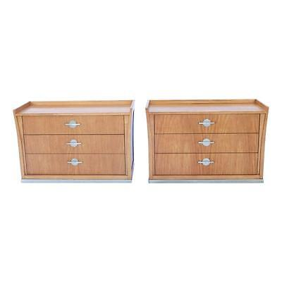 """Pr Jay Spectre """"Perimeter"""" for Century Furniture Chests / Night Stands Mahogany"""