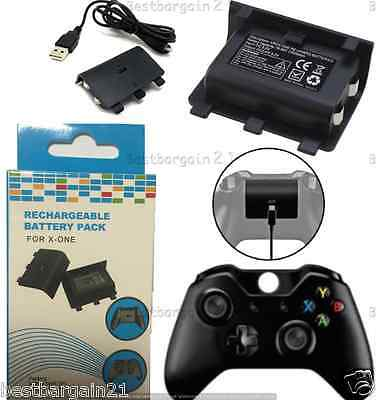 2400mAh Rechargeable Play & Charge Battery Pack For Xbox One Controller Kit New
