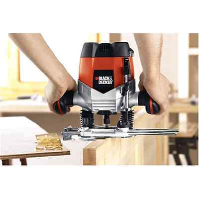 Electric Plunge Router Corded 10-Amp 2-1/4-Inch Variable Speed Motor Versatile