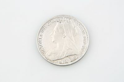 1899 Great Britain Florin Two Shillings Silver Coin VF+ Victoria England KM#781