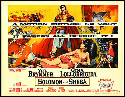 16mm Feature SOLOMON AND SHEBA-1959. King Vidor historical epic!