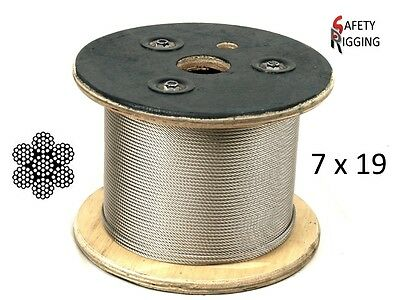 4.0mm Marine Stainless Steel Wire Rope Balustrade Decking Cable - 7 x 19 constr.