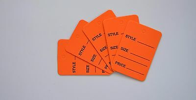 2000 Orange Merchandise Price Jewelry Garment Store Paper Small Tags 4.5x2.5cm