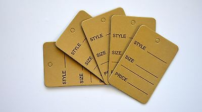 2000 Golden Merchandise Price Jewelry Garment Store Paper Small Tags 4.5x2.5cm