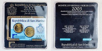 Coin Card 20, 50 Cent 2003 San Marino - Nordisch Gold