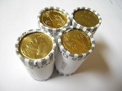 4x Unsearched Circulated Small Dollar Coin Rolls ($100) Presidential, S.B.A Saca