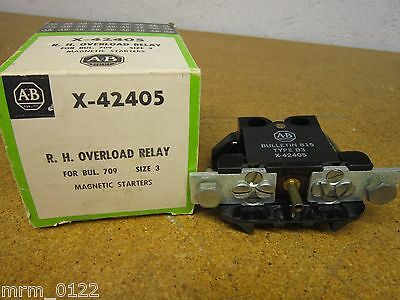 Allen Bradley X-42405 R.H. Overload Relay Magnetic Starter Size 3 NEW