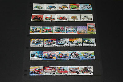Bulk Lot Aust Cars,bikes Themed Stamps X 31 Sets & Singles F/u