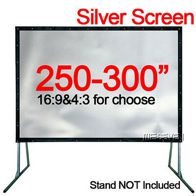 250-300 Inch Big Size 3D Projector Movie Silver Projection Screen Film Curtains