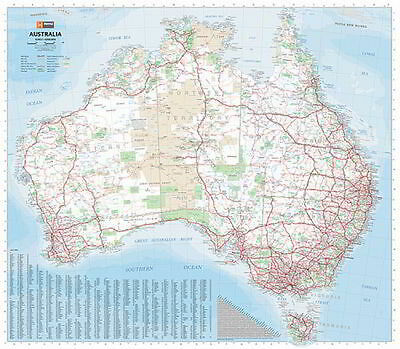 NEW Laminated Wall Maps - Aust Australia Mega Map