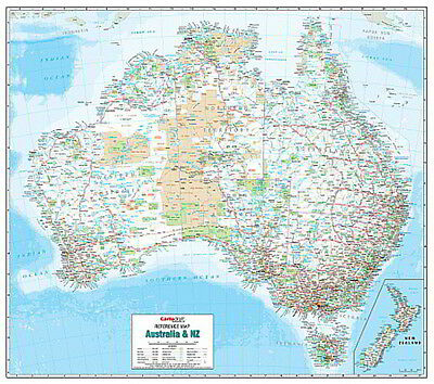 NEW Laminated Wall Maps - Aust Australia and New Zealand