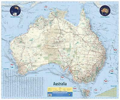 NEW Laminated Wall Maps - Aust Australia Wall Map