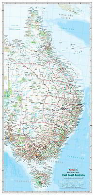 NEW Laminated Wall Maps - Aust East Coast Australia