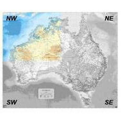 NEW Laminated Wall Maps - Aust Auslig Australia  - NW Quadrant