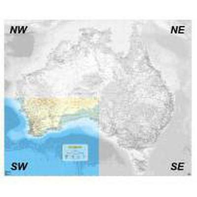 NEW Laminated Wall Maps - Aust Auslig Australia  - SW Quadrant