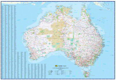 NEW Laminated Wall Maps - Aust Australia Xtra Large 180