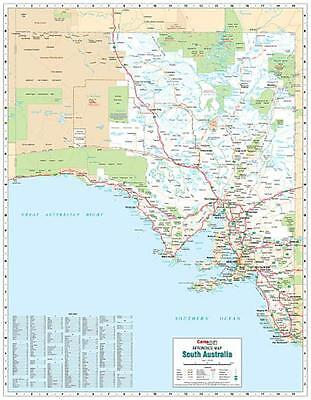 NEW Laminated Wall Maps - SA South Australia Reference Map