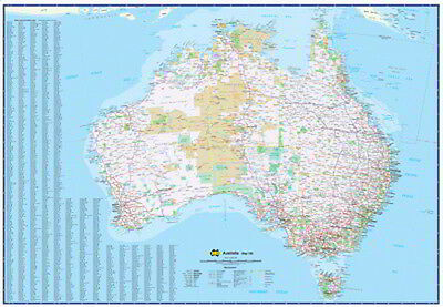 NEW Laminated Wall Maps - Aust Australia  180