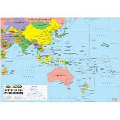 NEW Laminated Wall Maps - Aust Australia and its Neighbours