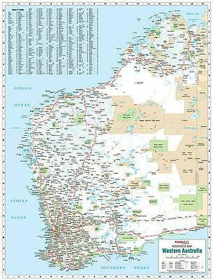 NEW Laminated Wall Maps - WA Western Australia Reference Map