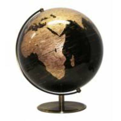 NEW World Globes - Specialty Black and Gold Ocean 25cm World Globe