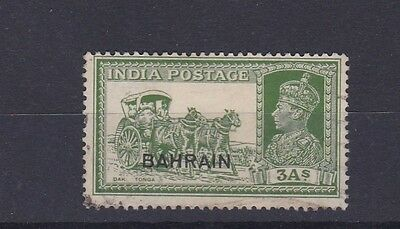 Bahrain 1938-41  S G 26  3A Yellow Green  Used