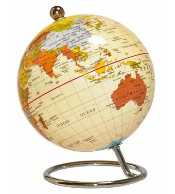 NEW World Globes - Mini Desktop World Globe - Antique 10cm