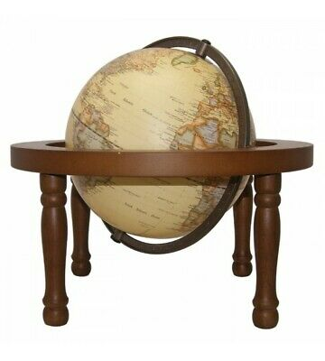 World Globes - Embossed Antique in a Wooden Stand