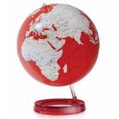NEW World Globes - Specialty Colour Red
