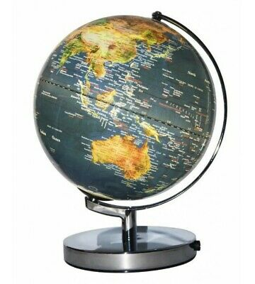 NEW World Globes - Specialty Heritage Dark Blue 25cm LED World Globe MS-211LM-P