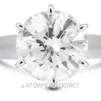0.62ct. F-SI3 VG Round Certified Diamond 14K Gold Cathedral Solitaire Ring 4.9gm