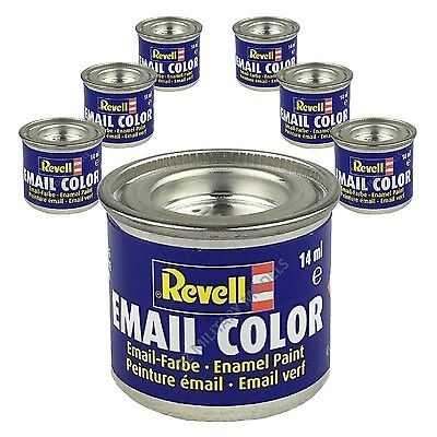 6 X Revell Enamel Model Paints (14ml) - Choose your Colours