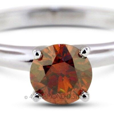 1.58ct. Red-SI3 VG Round Certified Diamond 14K Gold Classic Solitaire Ring 2.6gm