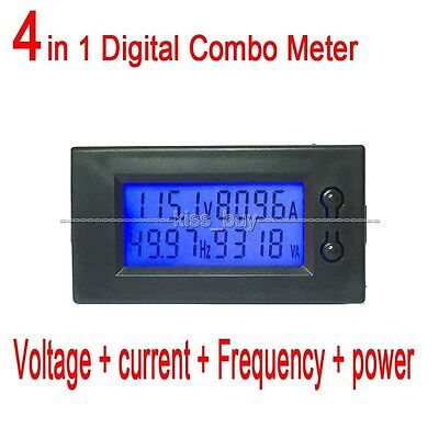 AC 80-300V 100A LCD Voltage current power Frequency Digital Combo Meter 110-220v