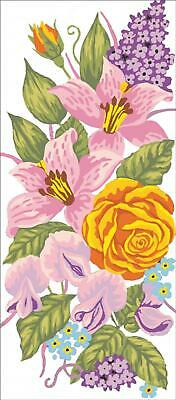Grafitec Printed Tapestry/Needlepoint Canvas – Roses & Lillies