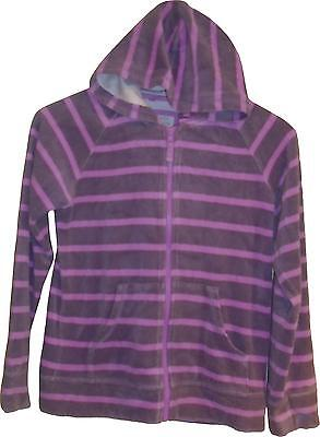 Used Girls Mini Boden Plum / Pink Toweling Jacket 11-12 Years - Faded (V.F)