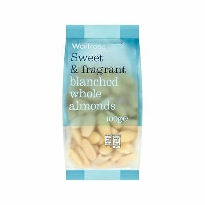 Blanched Whole Almonds Waitrose 100g