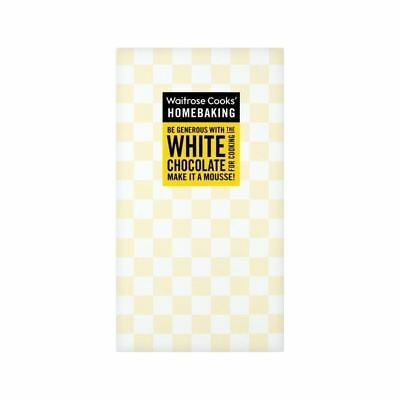 Cooks' Ingredients Single Origin White Chocolate Waitrose 150g