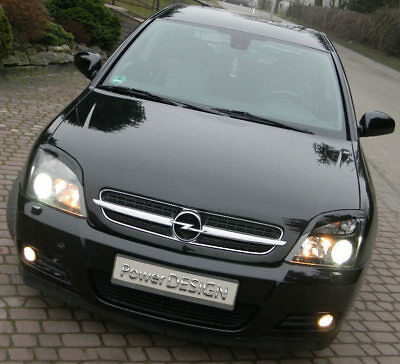 Eyebrows for VAUXHALL/OPEL Vectra C PRE-FACELIFT headlight eyelids  ABS Plastic