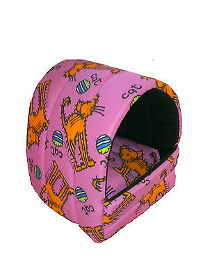 Pink bang on the door pet cave, igloo. Perfect for cats and kittens