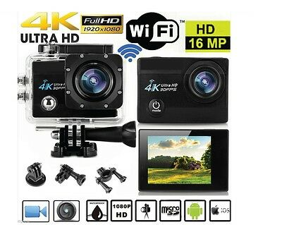 Pro Cam Sport Full Hd 1080P Action Camera Foto Video Subacquea 30Mt 16Mp Sd Ios