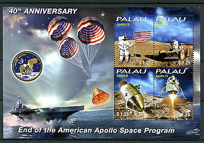 Palau 2012 MNH End of American Apollo Space Program 40th Anniv 4v M/S I Stamps