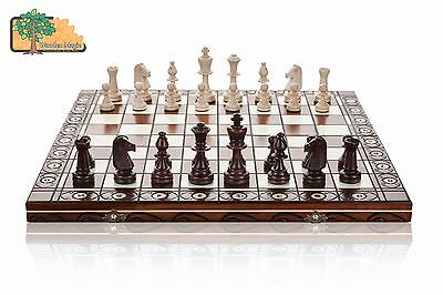 Consul chess Large 49cm / 19.in Handcrafted Wooden Chess Set Professional Staunt