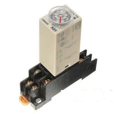 DC 12V Delay Timer Time Relay 0~60 Minute + H3Y-2 & Base UK SELLER