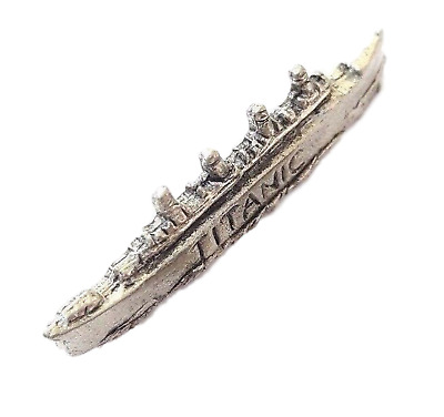 Titanic Handcrafted in Solid Pewter In UK Lapel Pin Badge