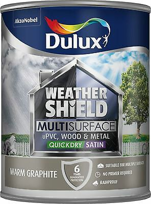 Dulux Weathershield Exterior Multisurface Satin Paint 750ml Warm Graphite