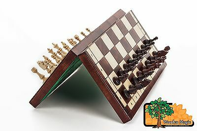 "SUPERB ""LARGE MAGNETIC"" WOODEN CHESS SET 38 x 38cm"